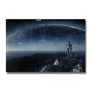 Плакат гобелен игры Mass Effect шелк