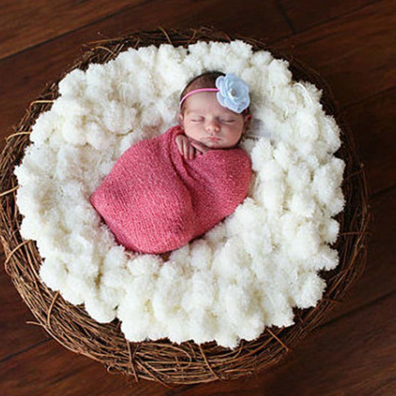 (80*80cm)Soft Crochet Cotton Basket Warm wrap unisex baby blanket Fur Photography Props baby swaddle Props aden anais