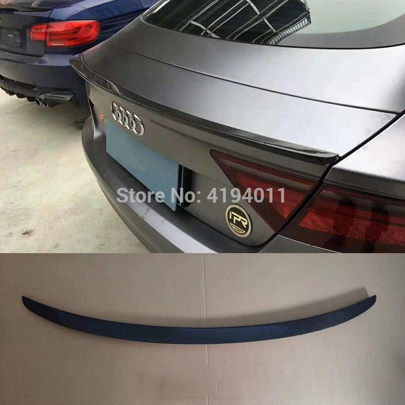 Автомобильный задний спойлер из углеродного волокна для Audi A7 RS7 2012 2013 2014 2015 2016 2017 2018