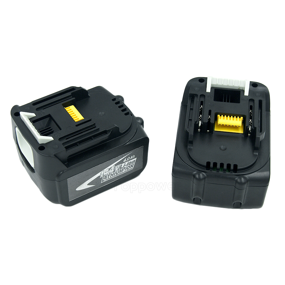 2PCS 14.4V 4.0Ah Lithium-Ion Tools Battery for Makita BL1430 BL1440 BDF343 BL1415 194066-1 194065-3 BDF446Z BJV140 2pcs lot 14 4v 3 0ah lithium ion power tools replacement battery for makita bl1430 da340drf bdf343 194065 3 194066 1 bl1430