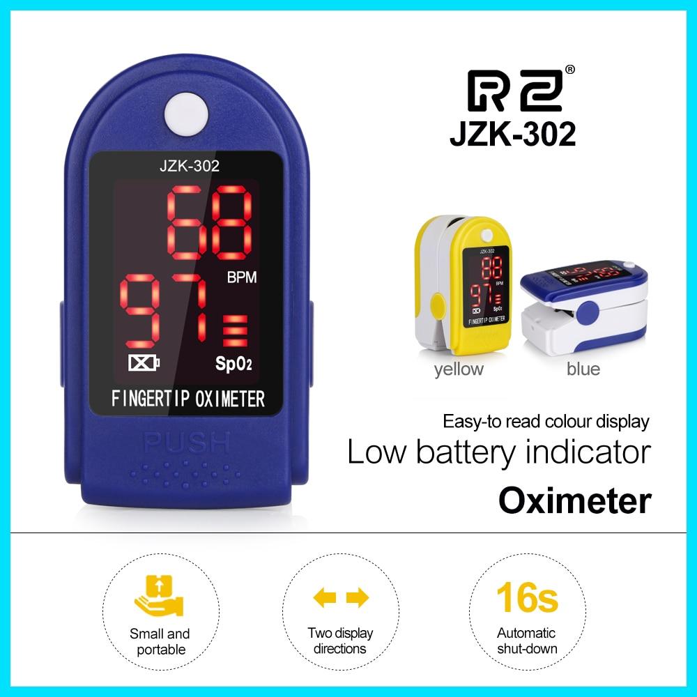 Jersey oxímetro de pulso de dedo portátil de presión de la sangre de atención de la salud CE aprobado SPO2 y el pulso de Pulsioximetro JZK-302