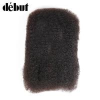 Debut 12 To 22 Inch Mongolian Afro Kinky Human Bulk Hair For Braiding No Weft Crochet Braids Human Hair 50G/PC Remy Curls Sale