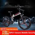 Eléctrica plegable bicicleta de montaña bicicleta de la batería de litio de potencia Mini stealth de la batería para adultos paso de la batería del coche