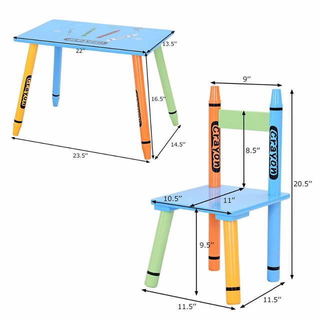 Astounding Us 45 99 Giantex 3 Piece Crayon Kids Table Chairs Set Wood Children Activity Playroom Furniture Hw58673 On Aliexpress Ocoug Best Dining Table And Chair Ideas Images Ocougorg