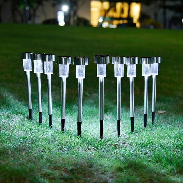 10pcs Solar Light LED Garden Lamp Yard Road Path Lawn Outdoor Lighting Use  Sun Power Conservation