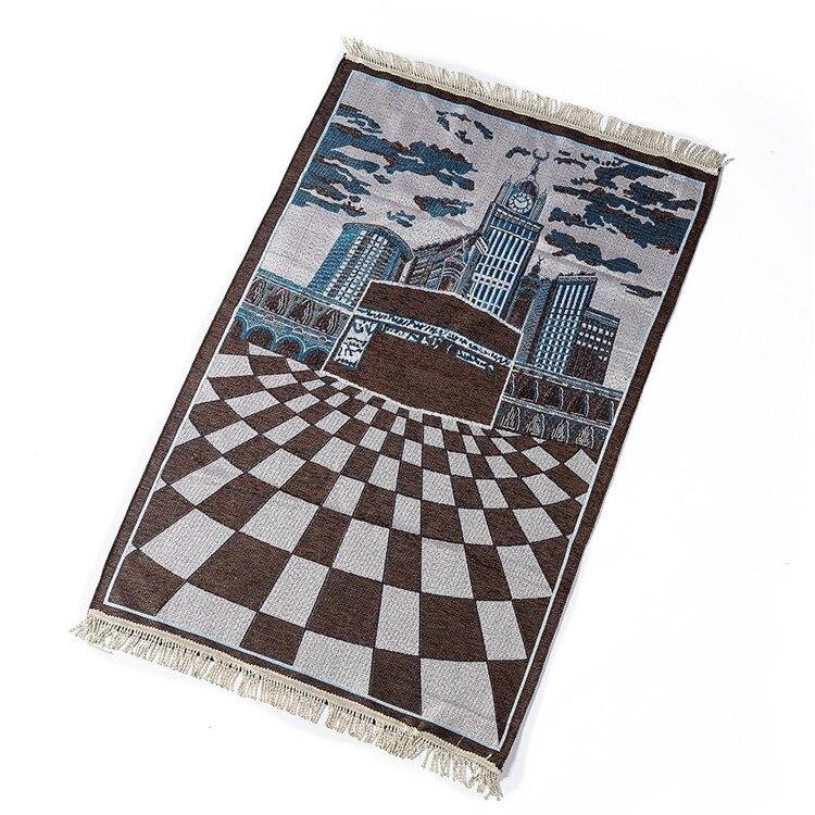 Wholesale 70*110cm Thin Travelling Islamic Muslim Prayer Mat /rug/carpet for Worship Salat Musallah Prayer Rug Praying Mat PM37