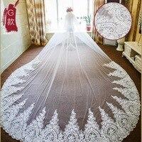 lace wedding veils two layers lace appliques edge bridal veils cheap wedding veils 2018 new arrival tulle bridal veil