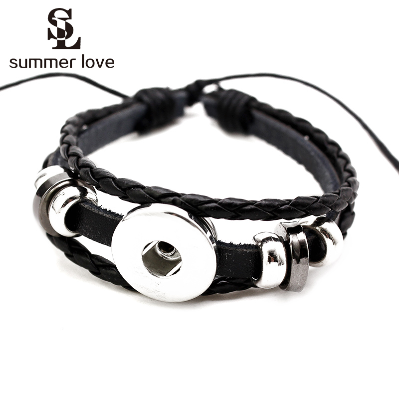 Mymate Snap Jewelry DIY Accessories Metal Crystal 18mm Snaps Or Snap Button Bracelet,Necklace Jewelry Pack of 10
