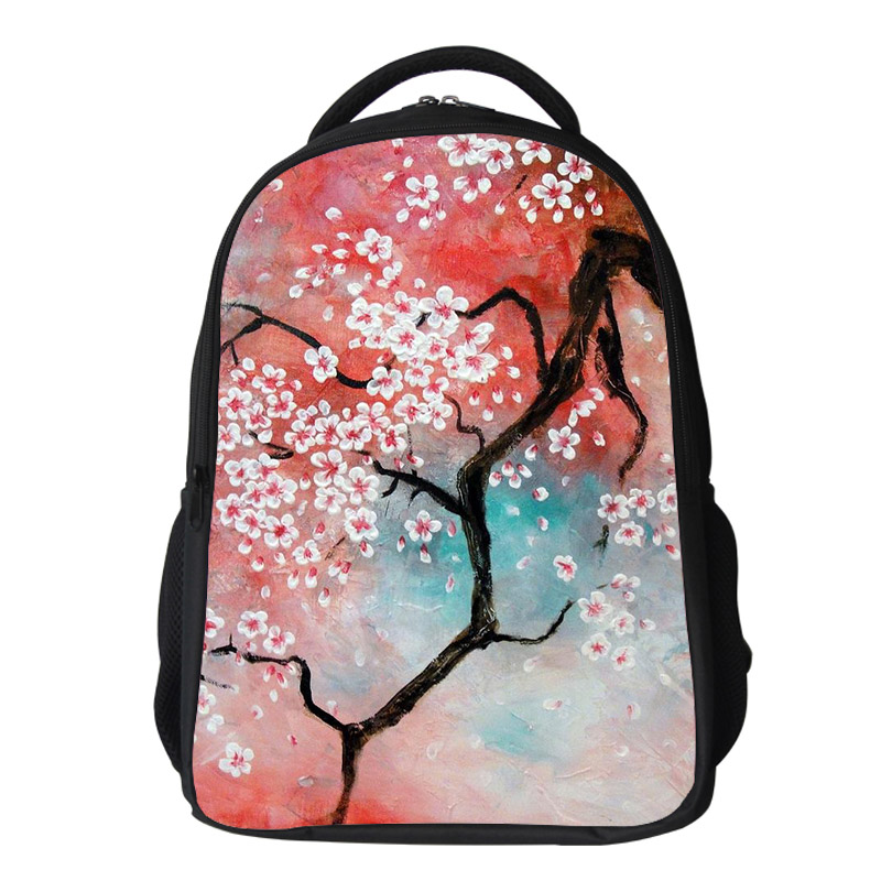 Girls cherry blossom Backpack Kids Oxford Personized School Bag Japanese Lanscape Painting Rucksack Casual Daypack for teenagers (9)