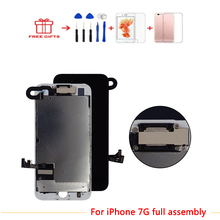 AAA LCD Screen For iPhone 7 Display 3D Touch Screen Digitizer For iPhone   Full Assembly Replacement  With Home Button&Camera replacement colorful lcd display with touch screen digitizer for iphone 4 4g 4s home button back housing with free shipping