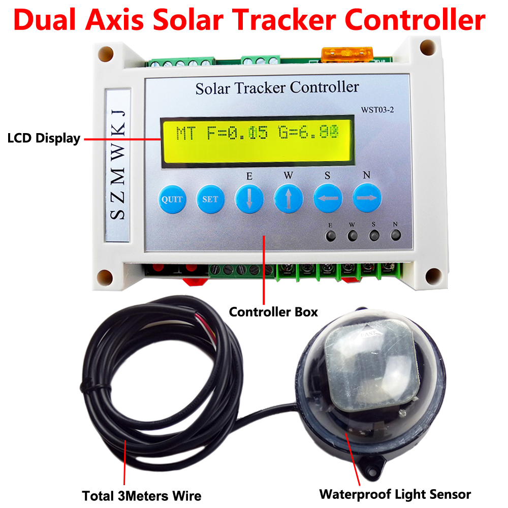 "1KW Solar Tracking 16/"" Linear Actuator Controller Wind Sensor Track Tracker Kits"