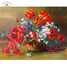 coloring by numbers poppy flowers modular pictures drawing on canvas poster painting for the kitchen wall home decoration RA3173(China)