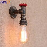 골동품 철 밸브 빈티지 벽 램프 산업 에디슨 벽 sconce 로프트 스타일 물 파이프 벽 전등 실내 조명
