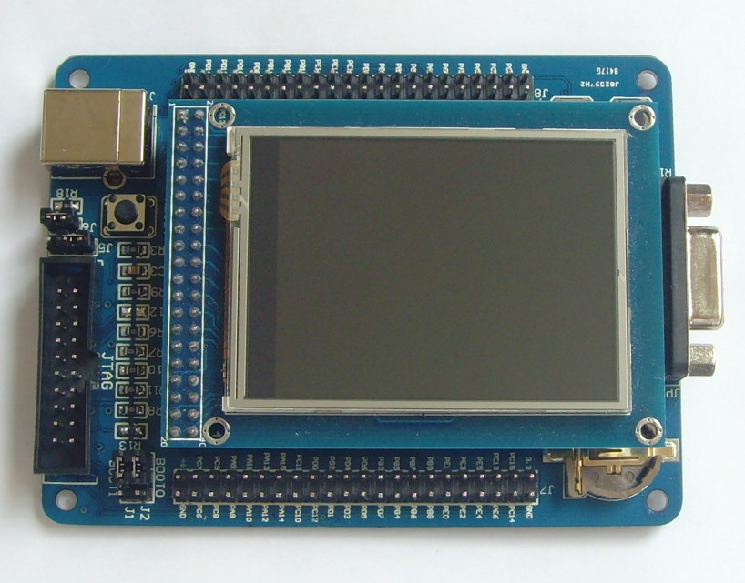 Free Shipping! 1pc ARM Cortex-M3 STM32F103VET6 STM32 development board + 2.4TFT Touch Screen