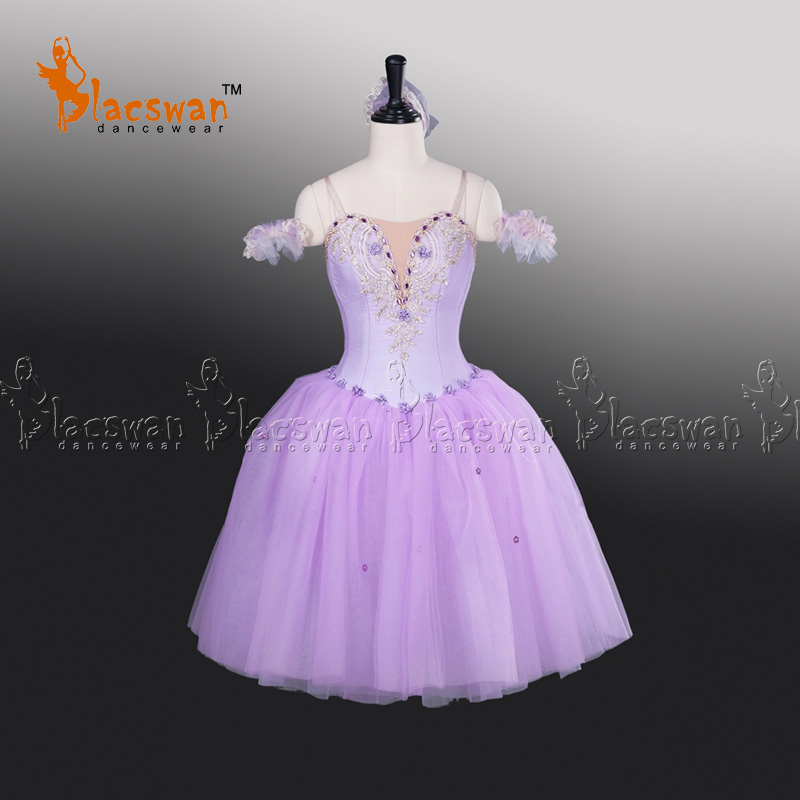 Professional Lilac Fairy Romantic Ballet Tutu Dress BT709 Soft Tulle Long Ballet Dress Stage Performance Ballet