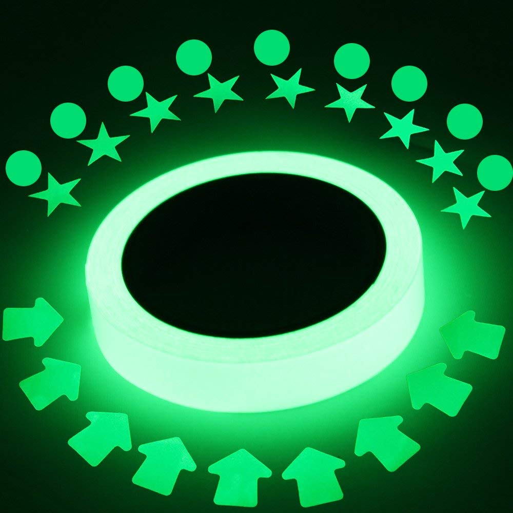Hot Sales Colorful Reflective Tapes Glow Self-adhesive Sticker Luminous Fluorescent Glowing Tapes Dark Striking Warning Tape