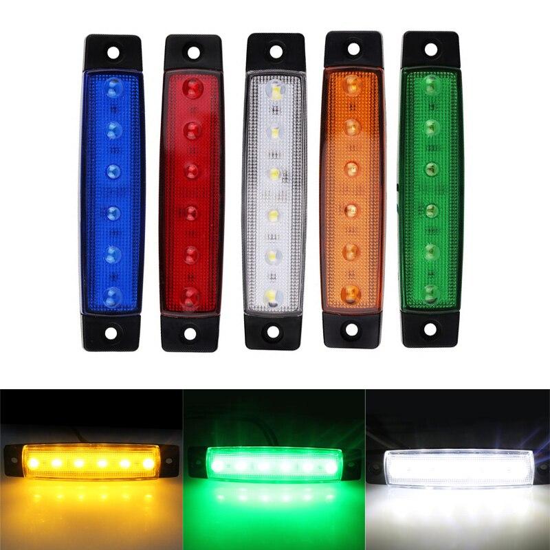 Led Lights Affecting Garage Door Openers: 2pcs 12V 24V 6 LED Car Truck Trailer Rear Tail Stop Turn