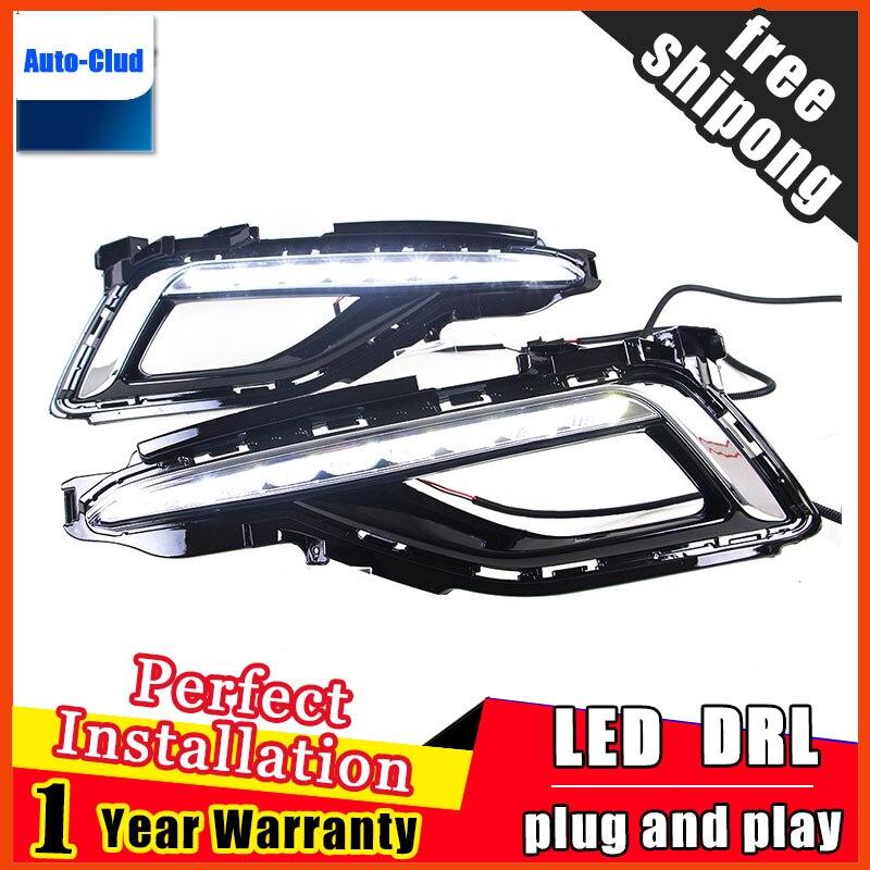 для Hyundai ДХО Sonata9 2015 Новая Соната СИД DRL Оригинальные фары дневного света Противотуманные фары функция Автомобильный 2