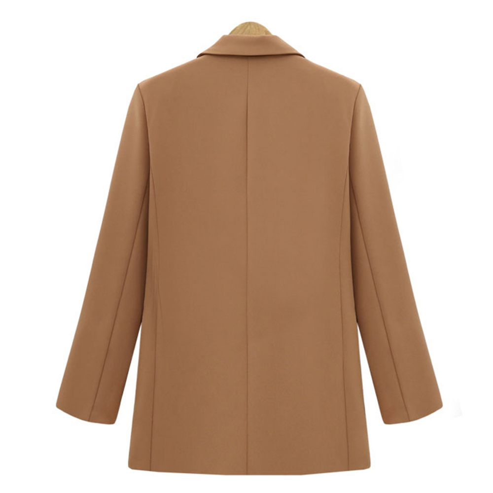 Autumn Winter Womens Blazer Casual Long Sleeve Women Blazers and Jackets Double Breasted Jackets Elegant Blazer Outerwear Black