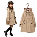 New 2016 Baby Girls Coat&Outwear,Girls Korean Cotton high quality Jacket,Children Spring&Autumn Coat For 3-10Yrs(3Color)