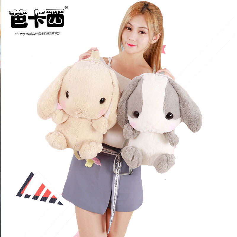 rabbit plush backpack cute Japanese plush rabbit backpack stuffed plush rabbit kids toy girls school bag gift for little girl big lovey plush pink rabbit toy stuffed smile rabbit pillow birthday gift about 110cm