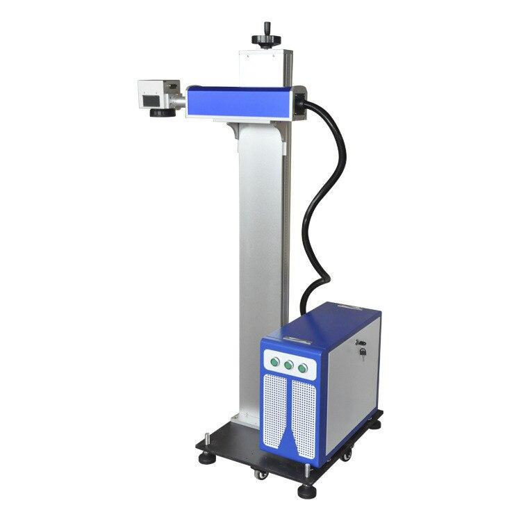 Marqueur Laser volant CO2 en ligne machine de marquage laser pour plastique/tissu/Jeans/câble autres matériaux Non métalliques