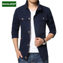 Brand new men's jacket in autumn and winter long cotton Slim