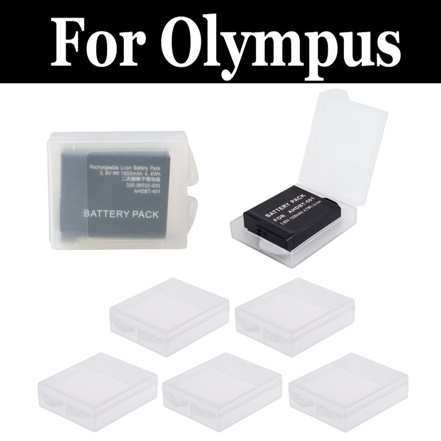 5pcs Battery Storage Box Transparent Cover For Olympus Sz 12 11 16 15 10 31mr Ihs 30mr Ihs Sh 21 50 Sp 600 610 620 800 810 Uz Complete In Specifications