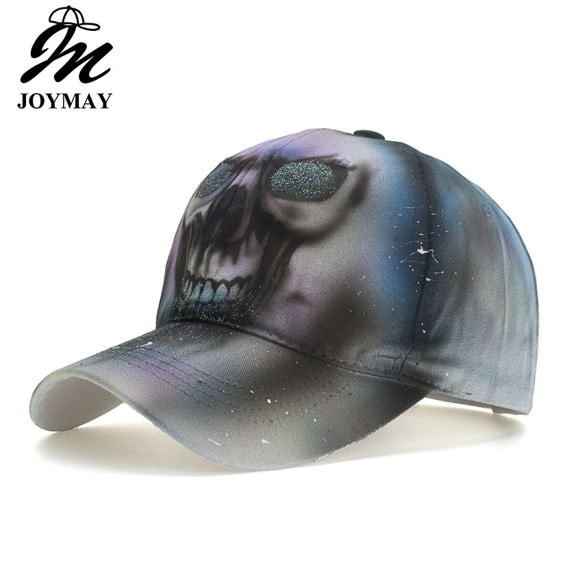 JOYMAY 2018 New Skull Painting Men Women   Baseball     Cap   Adjustable   Cap   Leisure Casual Snapback HAT B564