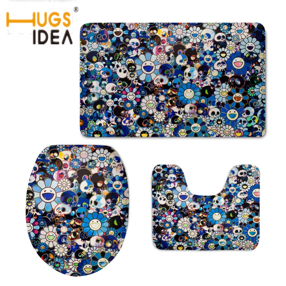 Wondrous Us 22 39 30 Off Hugsidea Toilet Accessories Vintage Skulls Printed Toilet Seat Cover Home Bathroom Decor 3D Wc Warmer Soft Non Slip Rug 3Pcs Set In Caraccident5 Cool Chair Designs And Ideas Caraccident5Info