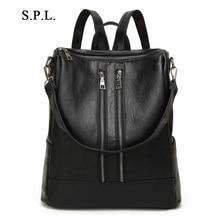 S. P. L. модный бренд женской школьный высокое качество кожаные рюкзаки для девочек-подростков многофункциональный плеча сумки