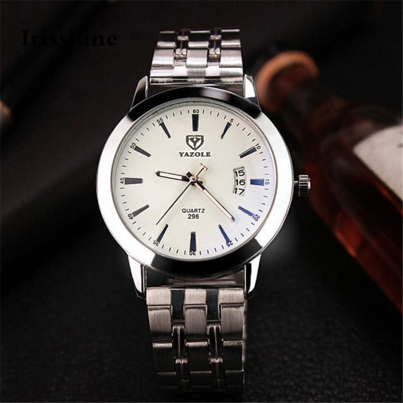 Irisshine I0856 men watch gift brand luxury New  Mens Waterproof Date Noctilucent Stainless Steel Glass Quartz Analog Watches irisshine i0856 men watch gift brand luxury new mens noctilucent stainless steel glass quartz analog watches wristwatch