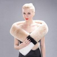 Autumn and winter new fashion real fox fur scarf 100% natural fox skin ladies scarf sexy elegant warm party shawl female HW 07