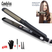 Professional Hair Straightener Straightening Iron flat iron and Curling Straight Curl Styling tools