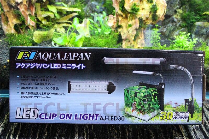<font><b>Aqua</b></font> Япония Аквариум Свет 6 Вт 30 см Долго 25-30 см Воды завод Fish Tank 220 В 50/60 ГЦ <font><b>LED</b></font> Клип На Свет Сделано в япония