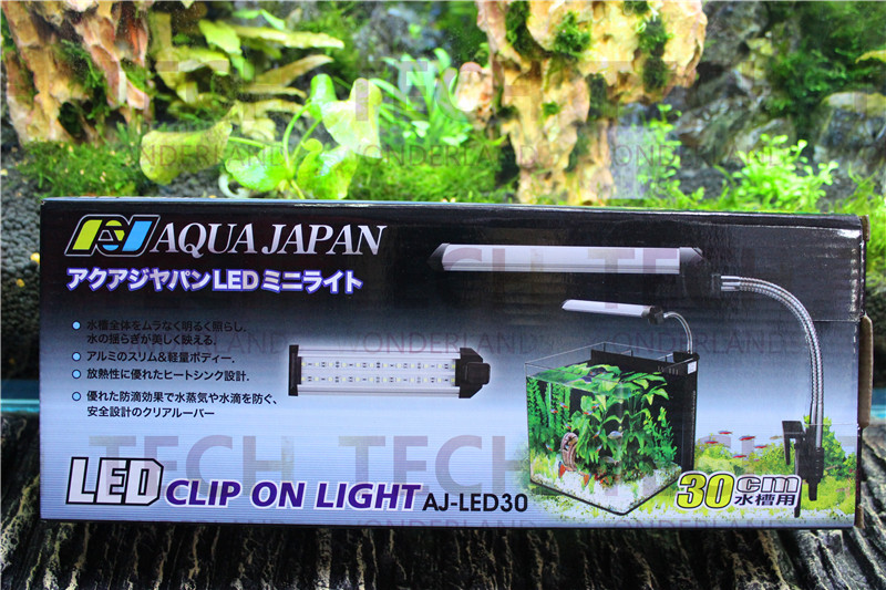 Aqua Japan Aquarium Led Light 6W 30cm Long for 25-30cm Water Plant Fish Tank 220V 50/60HZ LED Clip On Light Made in Japan