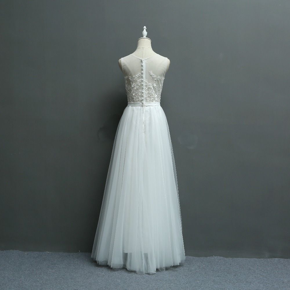New Arrival Brief Fresh Exquisite Embroidery Lace Seaside Wedding Bridesmaid Dress/Wedding Photograph Dress 580 3