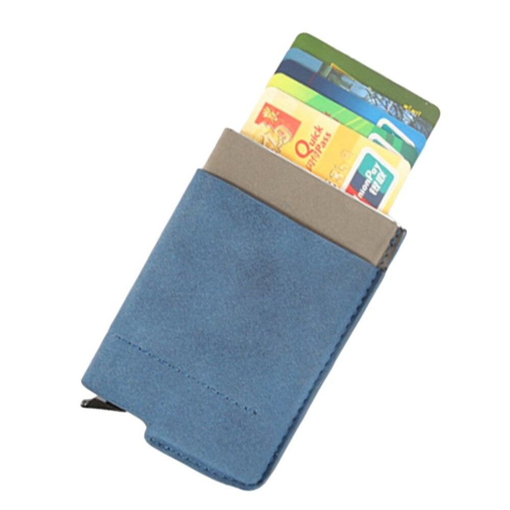 Treu Blau High-grade Leder Karten Halter Metall Edelstahl Visitenkarten Box Business Geschenke Kleine Und Tragbare Karte Halter Guter Geschmack