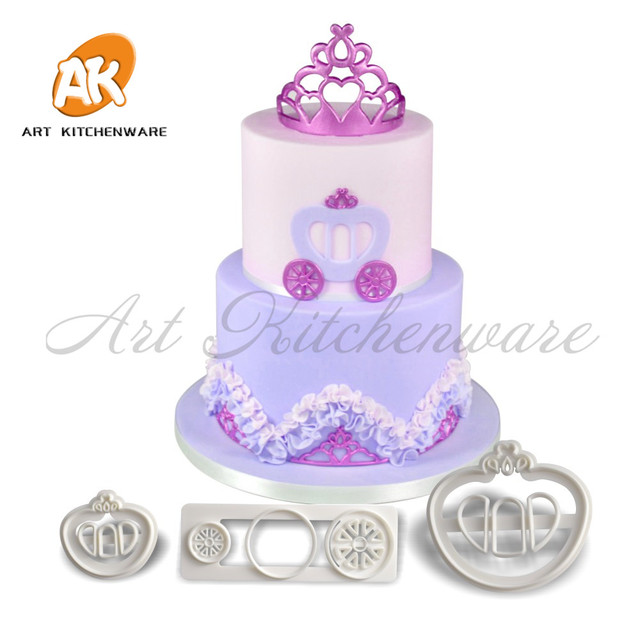 3pcs Pumpkin Car Fondant Cutter Cookie Cutters Mould Plastic Tools Pastry Birthday Cake Mold