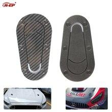 R-EP Универсальная автомобильная наклейка из углеродного волокна для замка капота гоночная капот декоративная капот совок наклейка s Для BMW Nissan AMG Mustang