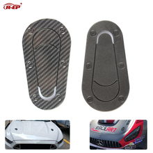 R-EP Universal Car Carbon Fiber Sticker for Hood Lock Racing Bonnet Decorative Scoop Stickers BMW Nissan AMG Mustang
