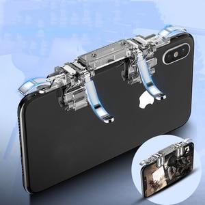 Image 2 - One piece 6 doigt Pubg Mobile contrôleur de jeu téléphone manette de jeu gachette L1 R1 visée/tireur bouton Joystick pour IPhone Android