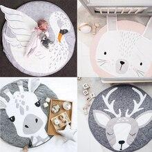 Crawling Mat, Cute Animals Baby Adventure Carpet, 100% Cotton Children's Floor Play Game Mat, Best Play Mat for Kids Room Decor