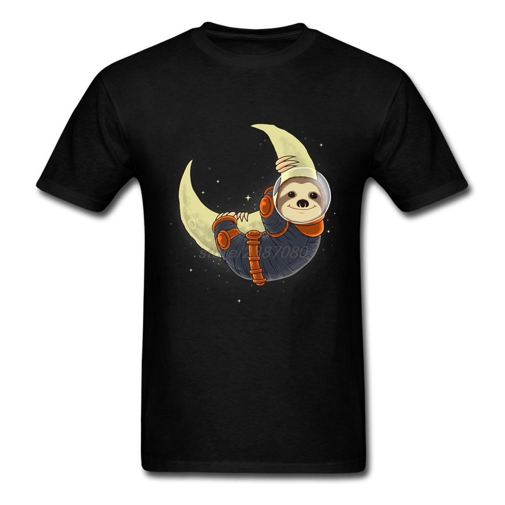 3d Printed T-Shirts Free Shipping Male Sloth need more space Short Sleeve Tshirt Man Sloth Round Neck T Shirt Software image