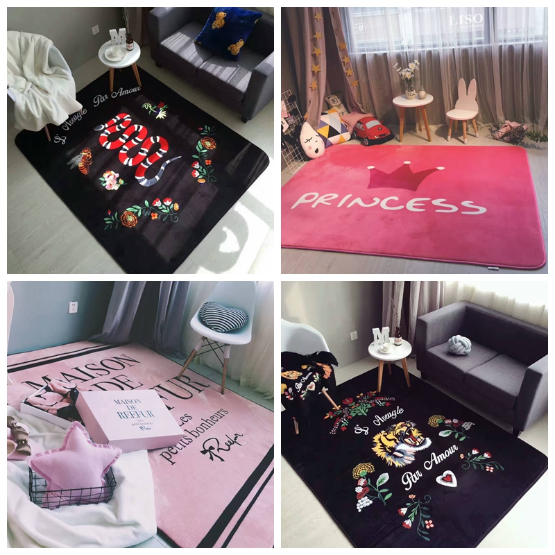 150x190cm כרטיס הגאות Nordic השטיח חדר השינה - טקסטיל בית