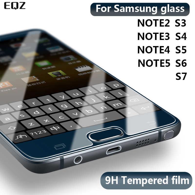 9H 2.5D الزجاج المقسى لسامسونج نوت 2 3 4 5 فيلم واقية من الانفجار واقي للشاشة لسامسونج غالاكسي S2 S3 S4 S5 S6 S7 فيلم