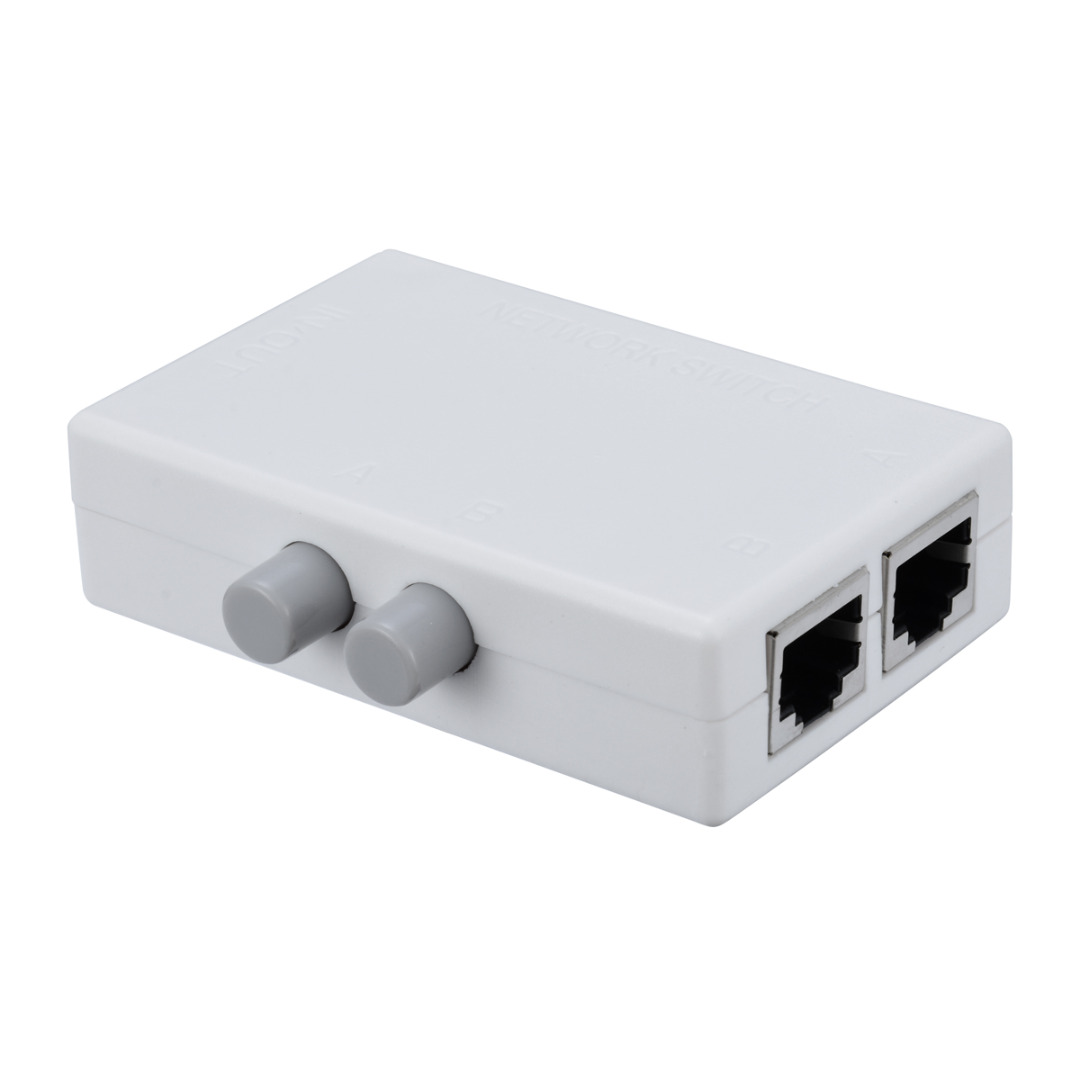 Mayitr Mini 2 Port RJ45 RJ-45 Network Switch Box Ethernet Switcher 2 Way Port Manual Network Sharing Switch AdapterMayitr Mini 2 Port RJ45 RJ-45 Network Switch Box Ethernet Switcher 2 Way Port Manual Network Sharing Switch Adapter