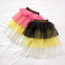 ANKRT 19 Summer New Girls Brassiere Dress Multi-layer Spliced Mesh Half-length Skirt.12M-6T