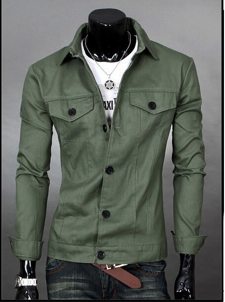 935e218ef4cb 2015 new Autumn Winter Men s denim jacket men coat casual style men s  designer fashion jacket Jacket Army Green