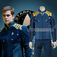 Star Trek Beyond Captain Kirk Costume Cosplay Adult Men Commander Kirk Battle Twill Suit Men Superhero
